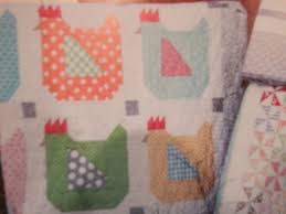 Rhubarb, textiles and a Really Cute Quilt Book | Snicklefritz & This pattern was worth the entire cost of the book for me. A chicken quilt.  I have made a chicken quilt before, but this one in pastels is just so, so,  ... Adamdwight.com