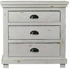 distressed white wood furniture. White And Wood Nightstand Rustic Furniture Distressed Gray E