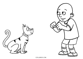 Small Picture Free Printable Caillou Coloring Pages For Kids Cool2bKids