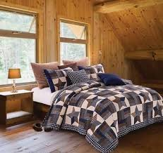 13 best Beautiful Beds! images on Pinterest | Country quilts ... & Beautiful NEW Navy Blue Woodland Star Printed Quilt Set. Includes quilt and  two matching pillow shams. Queen quilt measures King measures Colors are  navy ... Adamdwight.com
