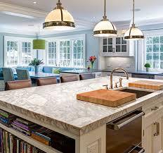 uniquely patterned white granite kitchen countertop