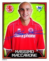 Massimo Maccarone Topps Football Stickers, | Premier League