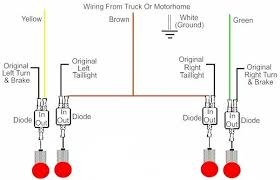 trailer tow bar wiring diagram for towing basic 2 wire tow vehicle truck motorhome to 2 wire towed vehicle car basic 2 wire type trailer wiring
