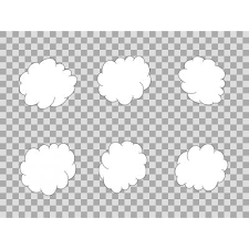 雲 線画 背景 シンプル イラスト アイコン 効果素材 ニコニコモンズ