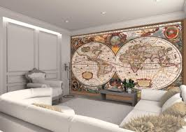Wall Mural For Living Room Living Room Globe Of The World Map Wall Murals Classic