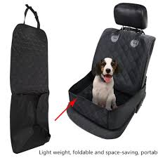 waterproof car folding pet dog cat front single seat cover protector mat travel