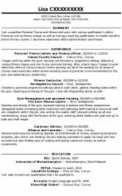 Persona Trainer Sample Resume Custom Personal Trainer Sample Resume Formatted Templates Example