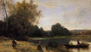 realism ville d avray the boat leaving the s artist camille corot start date completion genre landscape technique oil material canvas gallery