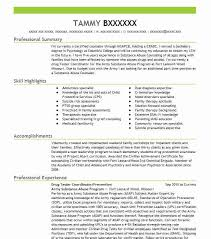 Addiction Specialist Sample Resume Impressive Drug Tester CoordinatorPrevention Resume Example Army Substance