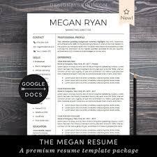 Google Docs Resume Template Professional Resume Cv Template Free Cover Letter Creative Modern Resume Maker For Google Doc Megan