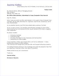 Office Administrator Cover Letter Sample