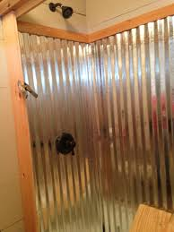 corrugated metal wainscoting beautiful corrugated metal shower hubby s lake house handy work