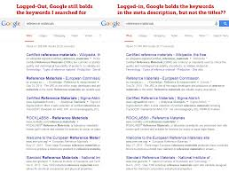 what is going on with google s bolding of keywords or rather lack thereof