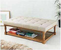 rectangular oak framed coffee table