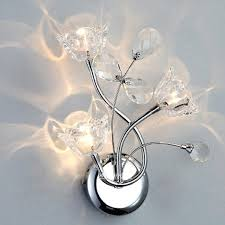 romantic crystal flowers bedroom wall lights fashion living room wall sconces dining room wall lamp fixtures 3 heads crystal flowers wall lamp living room