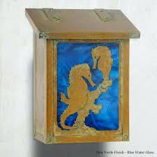 decorative wall mount mail box seahorse vertical mailbox mailboxes e56 wall