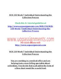 Hcr 230 Week 7 Individual Understanding The Collection Process