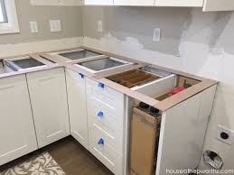 here is the countertop to the left of the stove and is our lazy susan sink and mini wrap around counter area