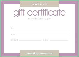 Gift Certificate Template Printable Blank Vouchers Template Justintr Me