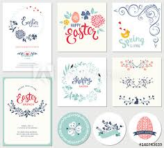 Easter Templates Easter Templates With Eggs Flowers Floral Wreaths And Branches