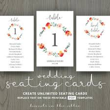 Wedding Table Name List Template Cards Number Ideas