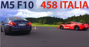 Coupe Series bmw m3 vs m5 : BMW M5 vs. Ferrari 458 Italia - Drag Race