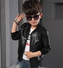new toddler kids boys leather jackets slim motorcycle leather biker jacket coat 2 2 of 9 see more