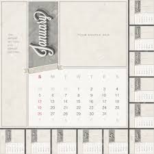 Monthly Calendar Template With Free Space For Personalized Picture