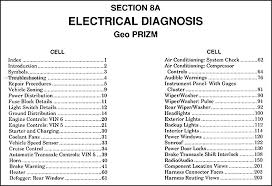 1991 geo prizm electrical diagnosis manual original 1992 geo metro wiring diagram at 1996 Geo Metro Wiring Diagram