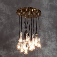 vintage ceiling lighting. Vintage Copper Multi Pendant Light Ceiling Lighting S