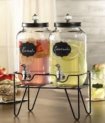 double glass chalkboard beverage dispensers