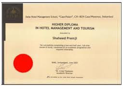 diploma in hotel and tourism management higher diploma in hotel and tourism management