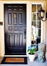 black front door hardware. TIDBITS-\u0026-TWINE-Front-Door-Makeover-1 Black Front Door Hardware G