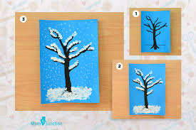 capture the magic of snow and winter on paper with this easy drawing of the winter tree draw this on a blue color paper which you can also turn into a