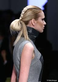 half ponytail updo runway hairstyles