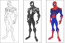 Amazing Spider Man Coloring Pages For Kids To Color And, Black ...