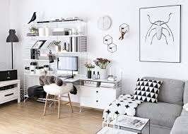 home office work room furniture scandinavian. string shelving with desk in scandinavian living room home office work furniture
