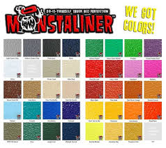 Raptor Liner Color Chart Bedliner On Fiberglass Tacoma World