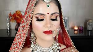 indian asian bridal makeup tutorial in hindi hd makeup beyourself channel
