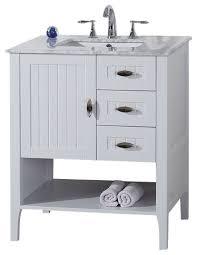 single white bathroom vanities. BellaTerra 30 Single Sink Vanity White With Marble Top Within Inside Bathroom Design 1 Vanities R
