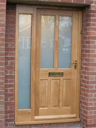 oak door side panels contemporary front