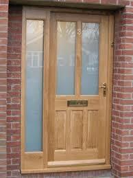 oak door side panels contemporary front door iroko fully glazed sidelight