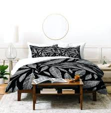 black and white bedding set twin modern duvet cover queen king sizes