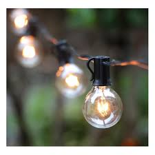 Amazon.com : 100Ft G40 Globe String Lights with Clear Bulbs-UL Listed for  Indoor/Outdoor Commercial Use, Retro Outdoor String Lights for Patio  Backyard ...