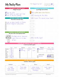 plan daily schedule my daily plan 8 5 x 11 notepad color my life