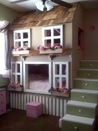 Build A Princess Bed Custom Dollhouse Cottage Loft Bed Pick Your Colors Play Area