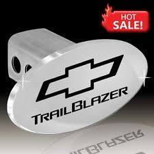 chevrolet trailblazer towing hauling chevrolet trailblazer logo oval tow plug 2 trailer receiver hitch cover oem gm
