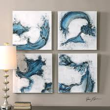 >abstract blue swirls wall art set of 4 scenario home wall art abstract blue swirls wall art set of 4
