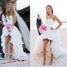 low cost beach wedding. hi-low simple corset sweetheart chiffon beach wedding dresses, cheap sexy bridal gown, low cost s