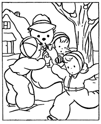 Small Picture Make Snowball Winter Themed Coloring Pages Winter Coloring pages